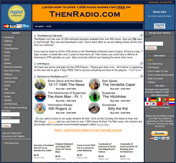 Ecommerce site ThenRadio.com in 2007, with over 55,000 products.
